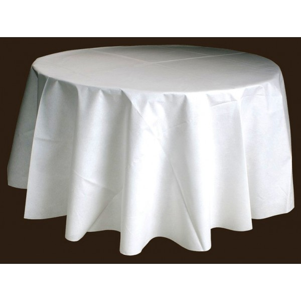 nappe ronde blanche 240 table de cuisine. Black Bedroom Furniture Sets. Home Design Ideas